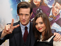 Matt Smith is with co-star Jenna-Louise Coleman and it's Shobna Gulati's leaving bash.