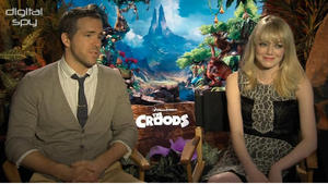 The Croods stars Nicolas Cage, Emma Stone, Ryan Reynolds interview