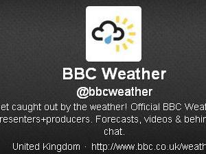 BBC Weather Twitter feed