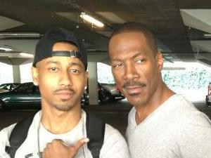 Brandon T Jackson and Eddie Murphy on-set for &#39;Beverly Hills Cop&#39; TV pilot