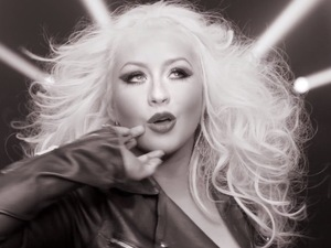 Christina Aguilera in 'Feel This Moment' music video.
