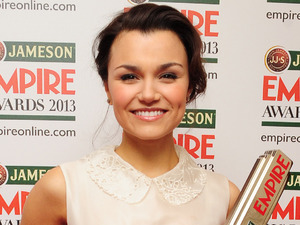 Samantha Barks with the Best Female Newcomer award.