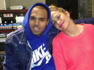 Jennifer Lopez & Chris Brown together in the studio