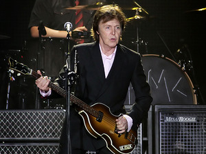 Paul McCartney performing his 'On The Run' tour