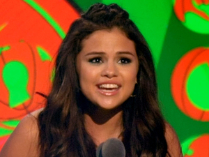 Selena Gomez accepts the award for Favourite TV Actress.