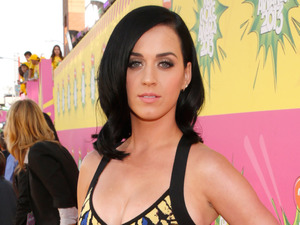 Katy Perry arrives for the Kids Choice Awards.