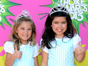 Sophia Grace and Rosie  arrive for the Kids Choice Awards.