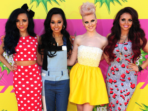 Little Mix arrive for the Nickelodeon Kids Choice Awards