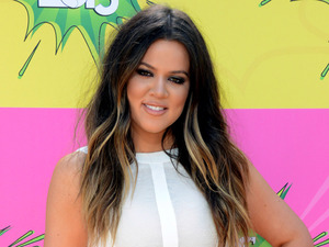 Khloe Kardashian arrives for the Kids Choice Awards.