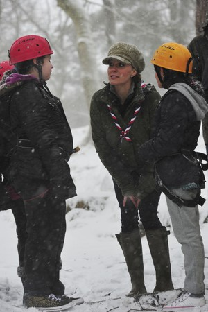 Duchess of Cambridge, Cub Scouts at the Great Tower Scout Camp near Newby Bridge in Cumbria