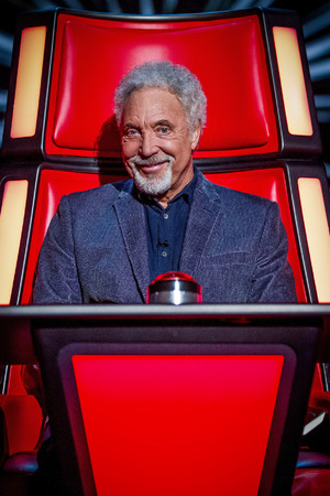 Tom Jones during the blind auditions of 'The Voice UK' series 2 opening