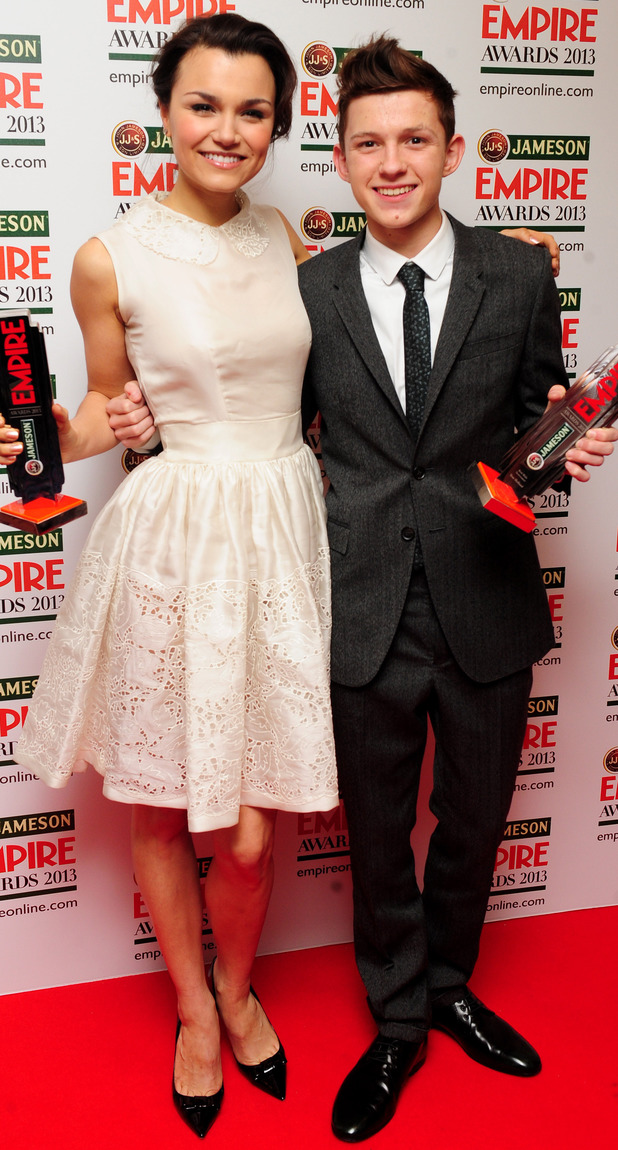 Samantha Barks and Tom Holland
