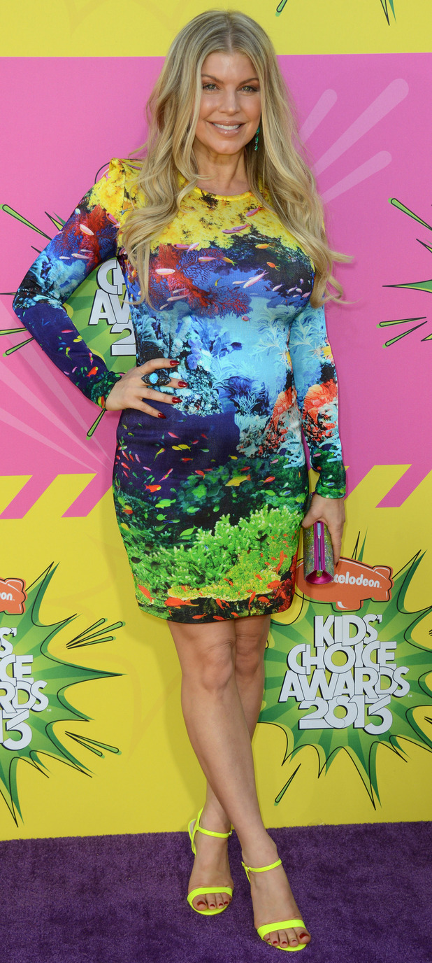 Fergie arrives for the Kids Choice Awards.