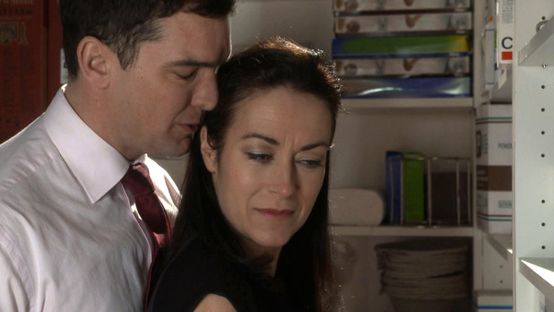 Daniel and Zara can't resist each other at work