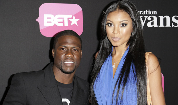 Kevin Hart with wife Torrei