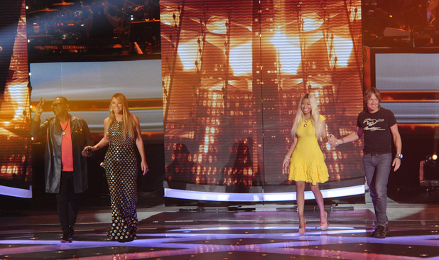 'American Idol' Top 9 performances: Randy Jackson, Nicki Minaj, Mariah Carey, Keith Urban.