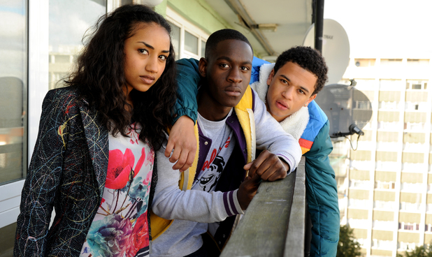 Jay, Yemi and Davina in 'Youngers'