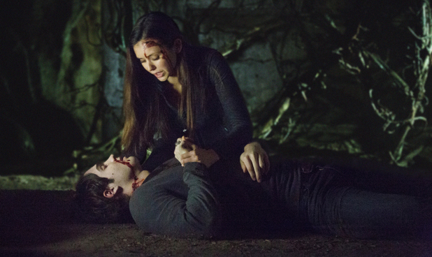 Nina Dobrev as Elena and Steven R. McQueen as Jeremy in The Vampire Diaries S04E15: 'Stand By Me'