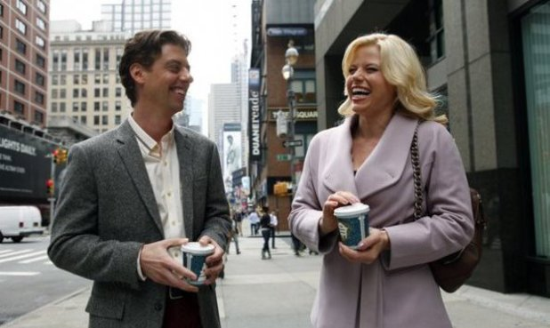 Christian Borle as Tom Levitt, Megan Hilty as Ivy Lynn in Smash S02E07: 'Musical Chairs'