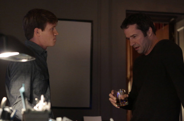 'The Following' (S01E09) 'Love Hurts': Joe Carroll (James Purefoy) and Roderick (Warren Kole)