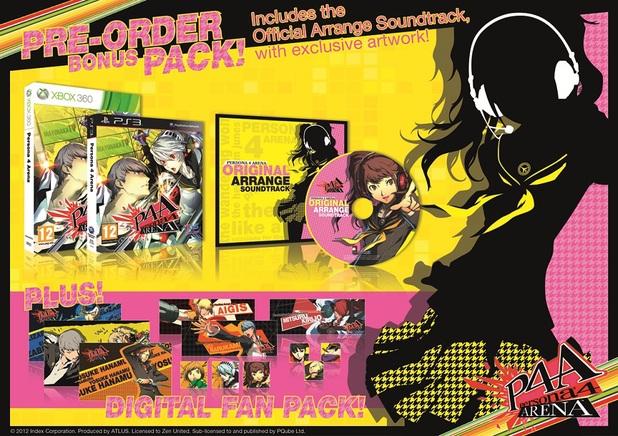 Persona 4: Arena pre-order bonuses