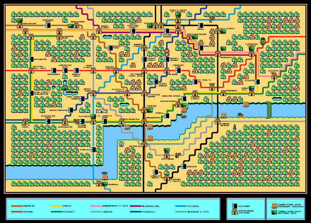 London Underground map Super Mario Bros 3