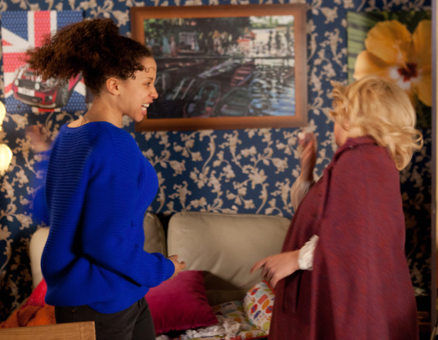 Julie confronts Kirsty about her outburst which causes her to lose her temper and slap Julie