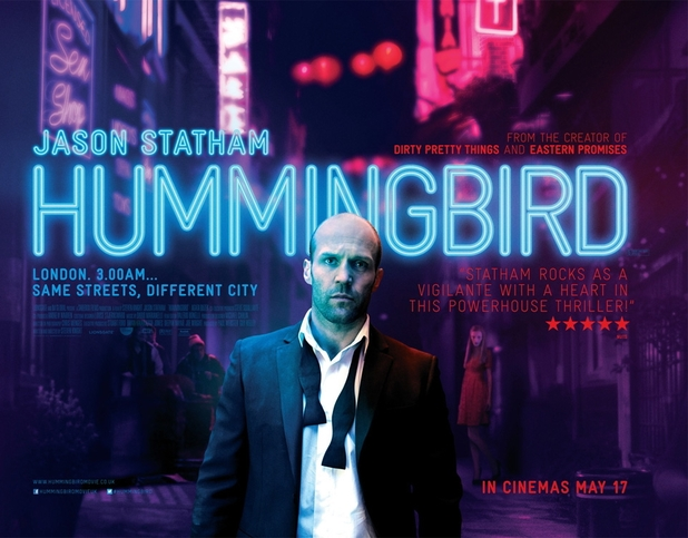 Poster showing Jason Statham as Joey Jones in Hummingbird.