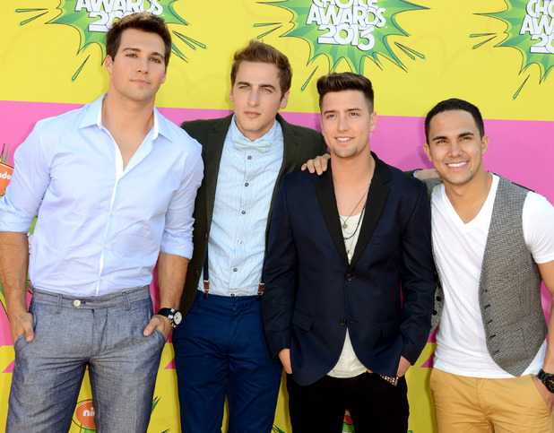 Big Time Rush arrive for the Kids Choice Awards.