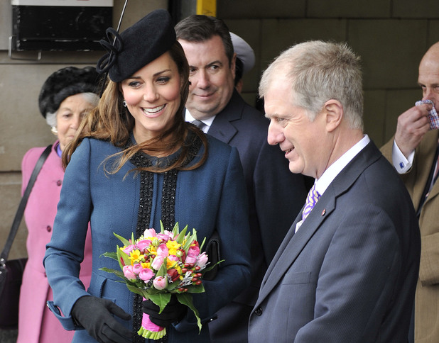 Kate Middleton during a visit to Baker Street tube station