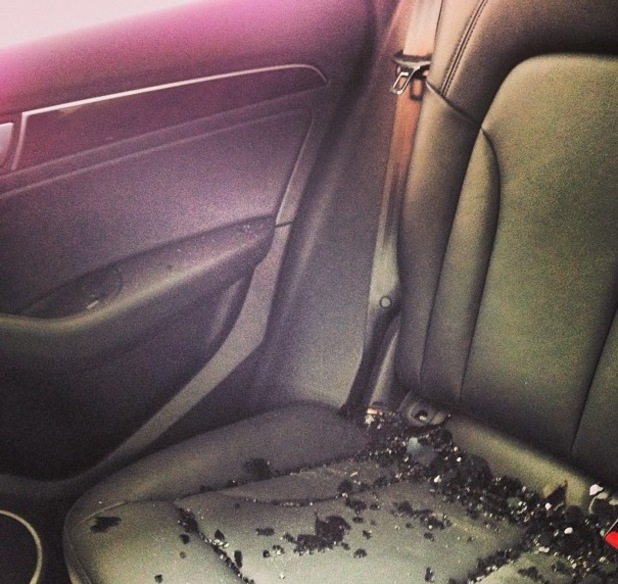 Ian Somerhalder posts photo of his car break-in.