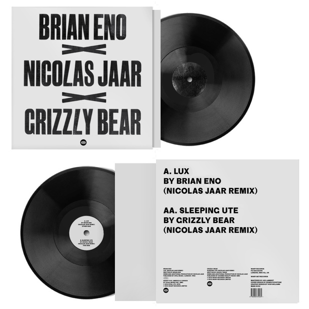 "Brian Eno, Grizzly Bear and Nicolas Jarr Record Store Day 12"" for Warp"