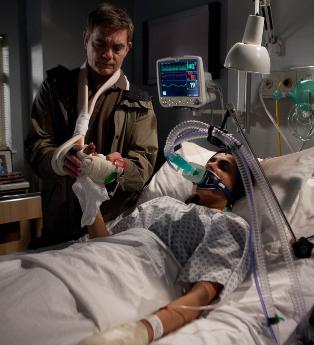 Karl frames Sunita for arson in Coronation Street