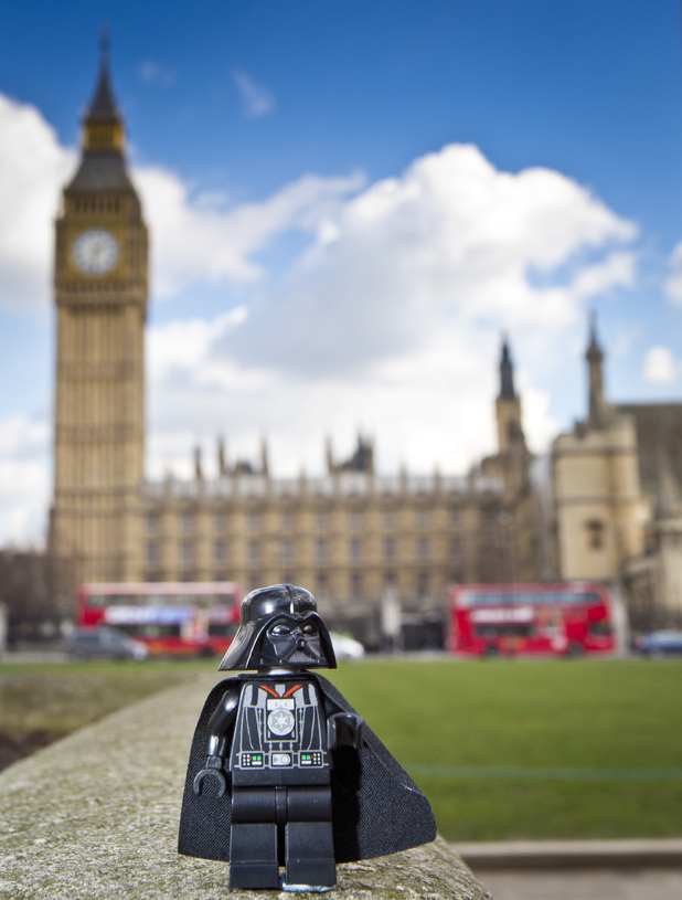 LEGO Darth Vader visits London to mark the DVD release of LEGO Star Wars