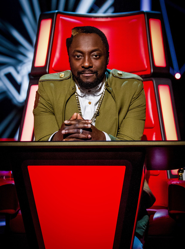 Will.i.am during the blind auditions of 'The Voice UK' series 2 opening