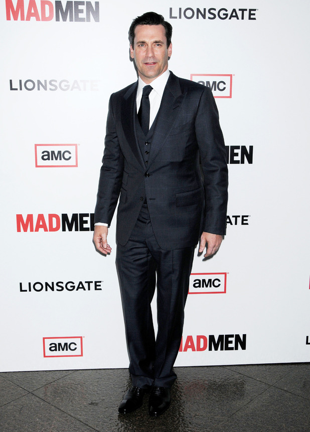 Jon Hamm at the premiere of 'Mad Men' season six in Los Angeles