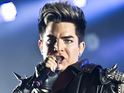 Adam Lambert can be seen performing with Demi Lovato in the Glee trailer.