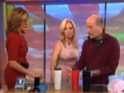 Watch the Today host repeatedly knocking the 'Mighty Mugs' over.