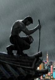 Hugh Jackman poses in the motion poster for The Wolverine.