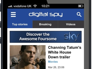 Digital Spy new mobile site screengrab