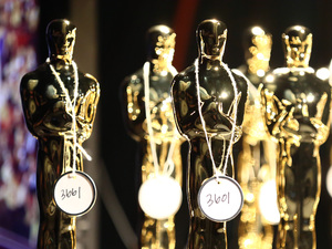 Numbered Oscars statuettes prior to the 85th annual Academy Awards