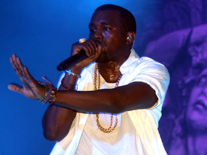 Kanye West in concert in 2011