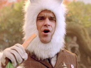 Robbie Williams as a bunny.