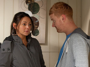 8098: When Gary finds Tina alone in her ransacked flat she tries to put on a brave face but it's clear she's shaken