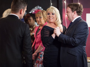 Jack talks to Sharon as she dances with Ian.