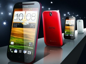 Outed press image for the HTC Desire P smartphone