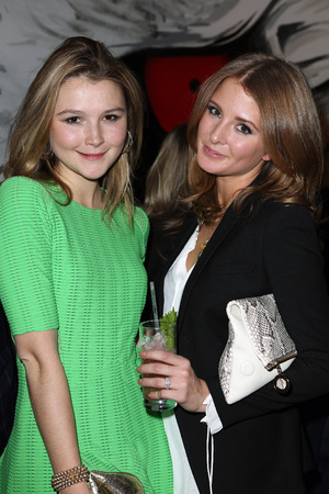 Amber Atherton, Millie Mackintosh, engagement ring, made in chelsea, The Big Black Book' launch party At Sushi Samba