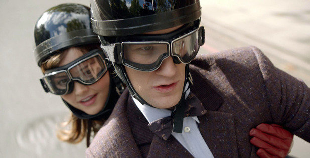Clara (Jenna-Louise Coleman) & The Doctor (Matt Smith) in Doctor Who: 'The Bells of St John'