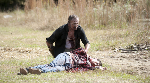 Merle Dixon (Michael Rooker) and Ben (Tyler Chase) in The Walking Dead S03E15: 'This Sorrowful Life'