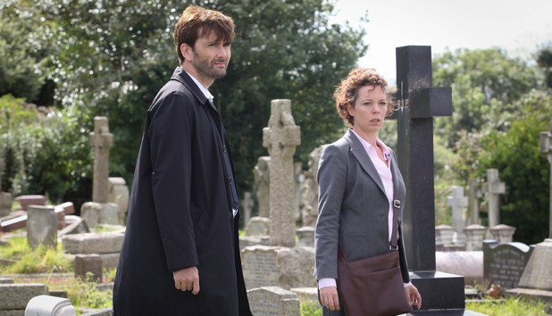 David Tennant as Alec Hardy and Olivia Colman as Ellie Miller in Broadchurch Episode 4